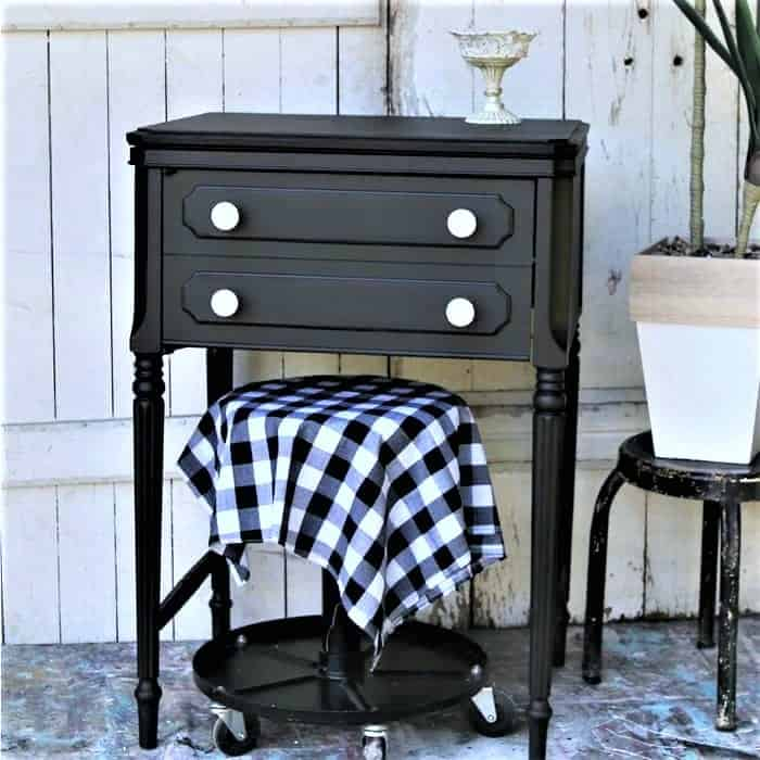 painted sewing machine cabinet table