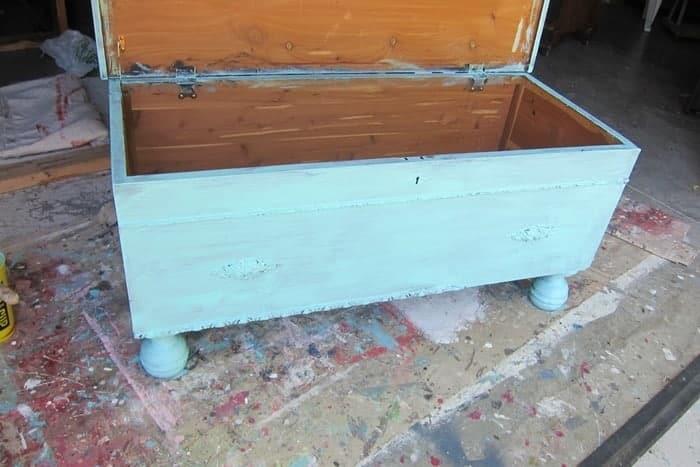 painting a cedar chest