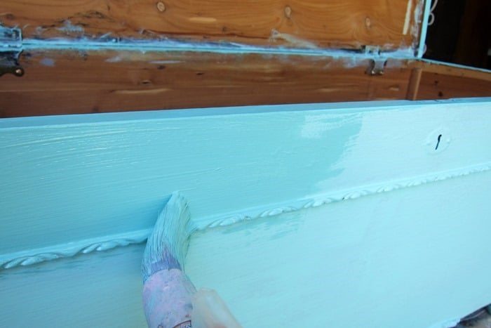 painting furniture turquoise