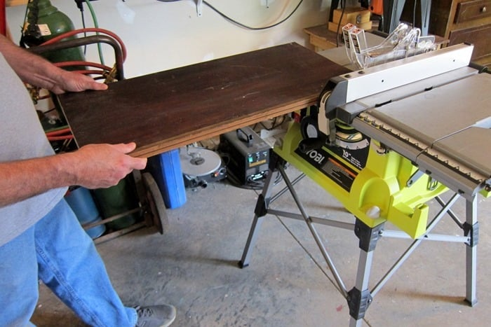 reclaimed wood to make a table