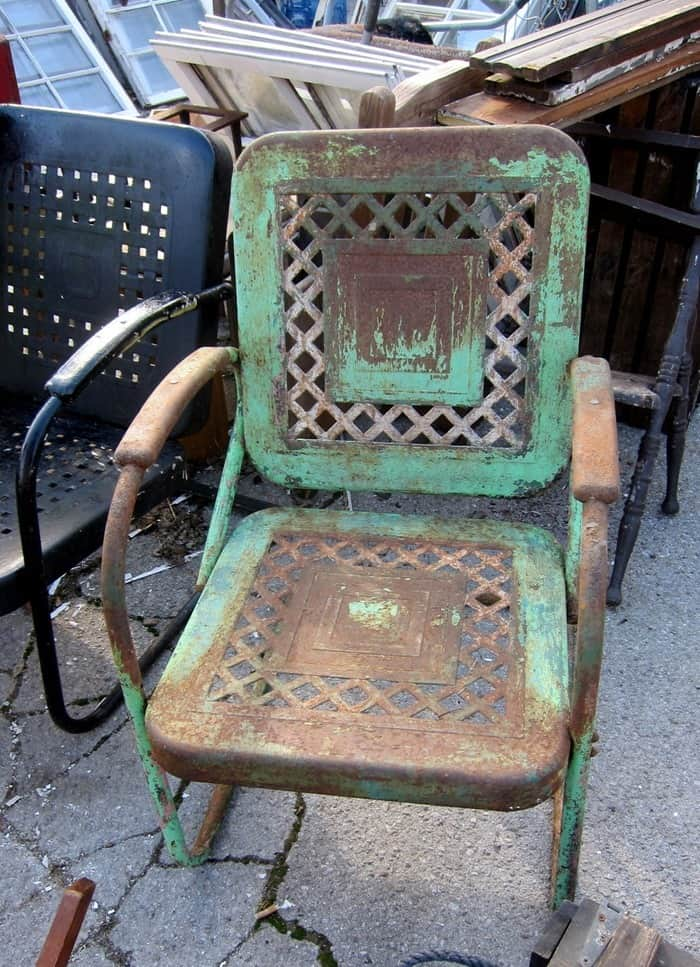 rusty metal chair from my favorite junk shop