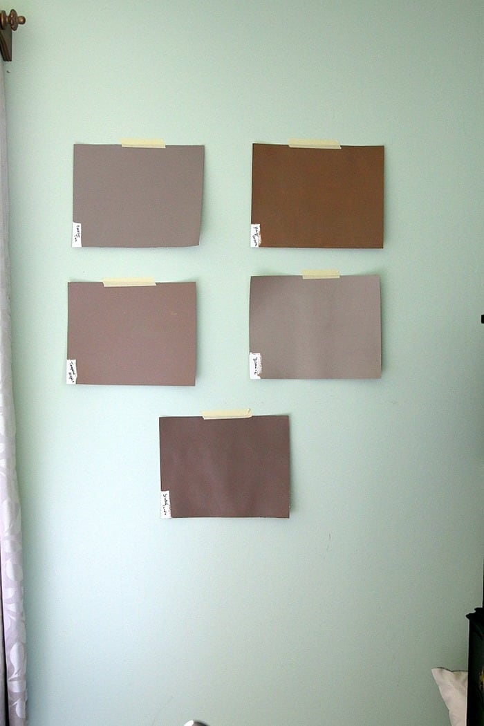 selecting brown paint colors for the master bedroom