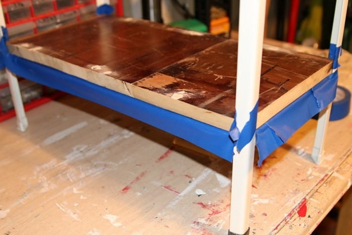 use painters tape to protect wood from paint