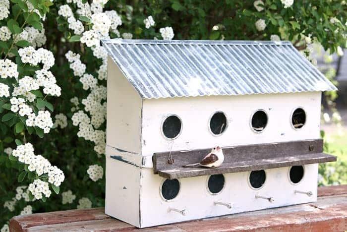 white birdhouse condo