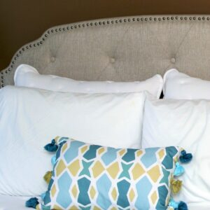 At Home Store Upholstered Headboard Is Easy For One Person To Set Up large