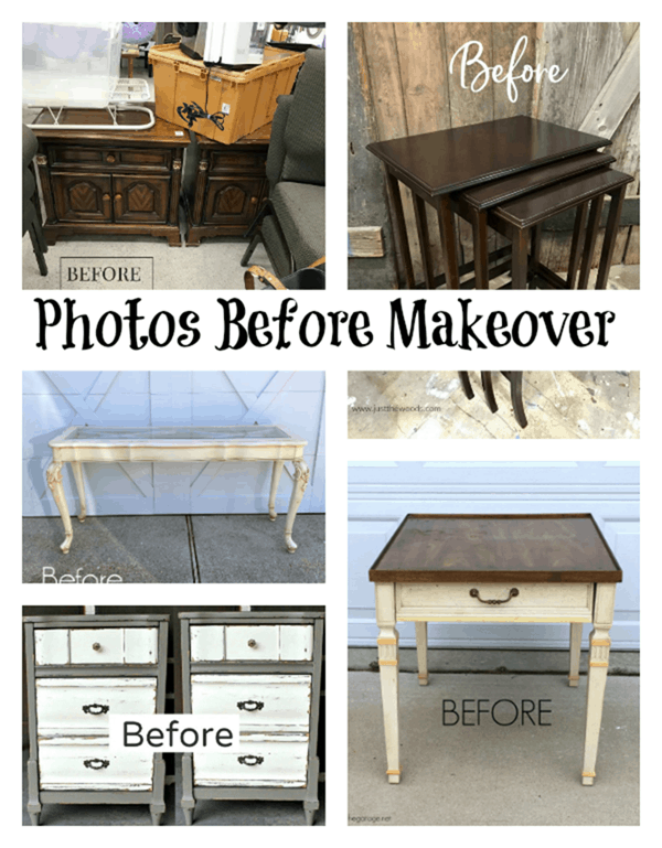 Pictures of furniture before paint makeovers