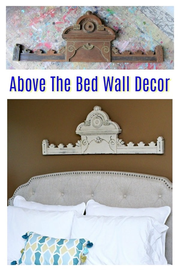 decorating the wall above the bed