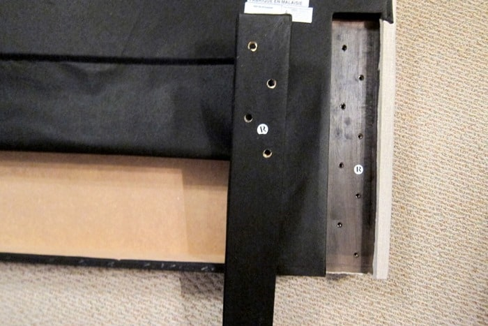 how to attach legs to a headboard