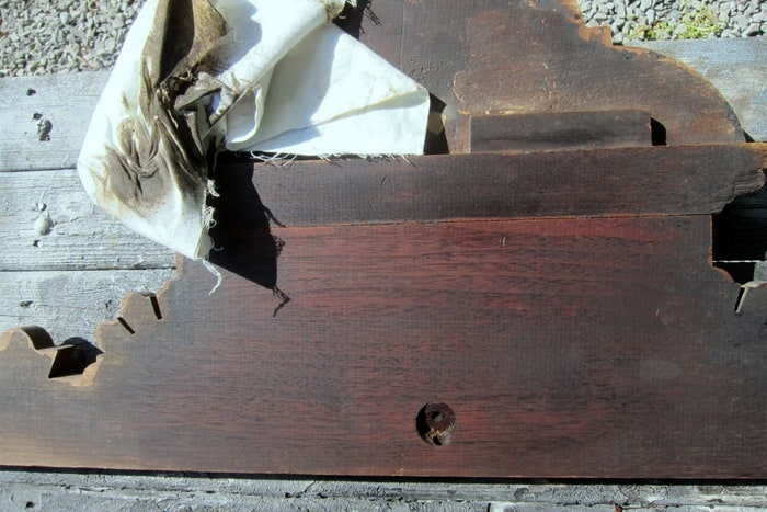 how to clean old wood