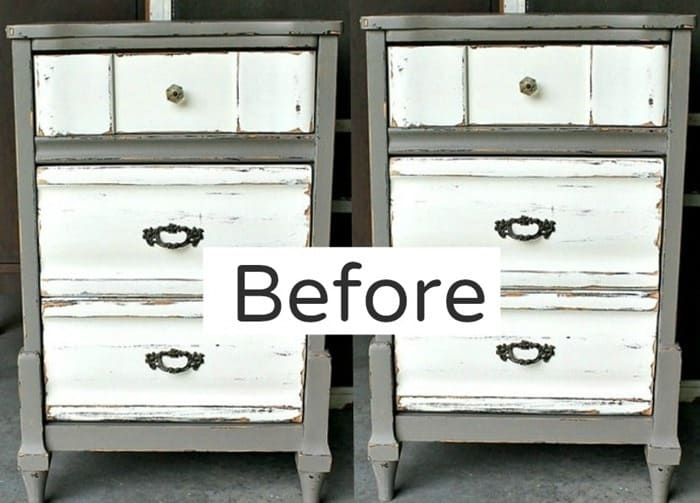 pair of nightstands for makeover