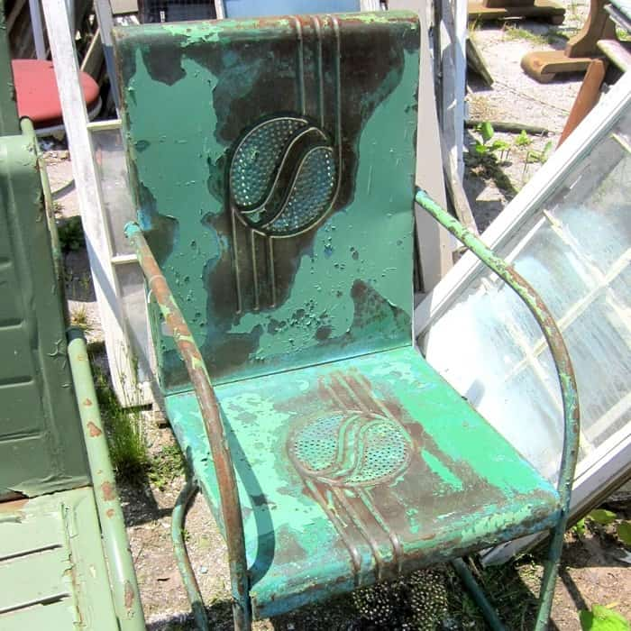 Fantastic Pair Of 1930's Art Deco Style Vintage Lawn Chairs