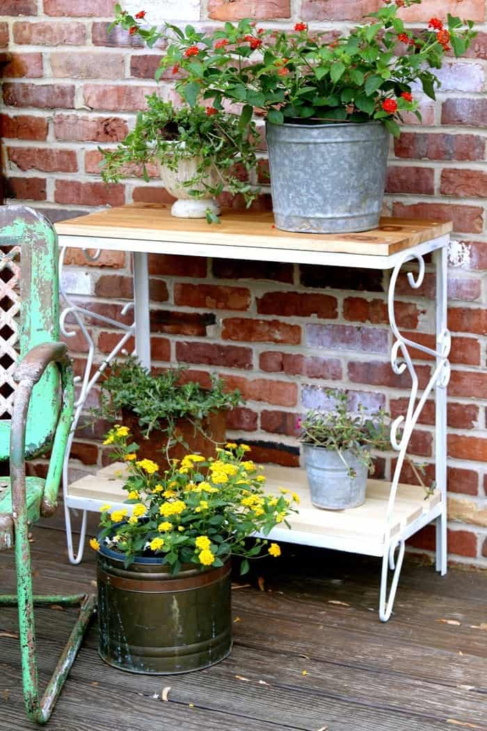 How To Make A Reclaimed Wood Plant Stand