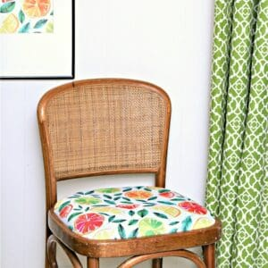 how to use cloth napkins to recover a chair seat