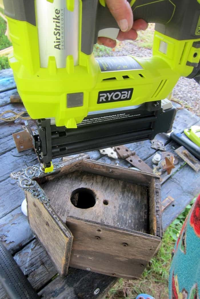 adding a gable piece to a wood birdhouse