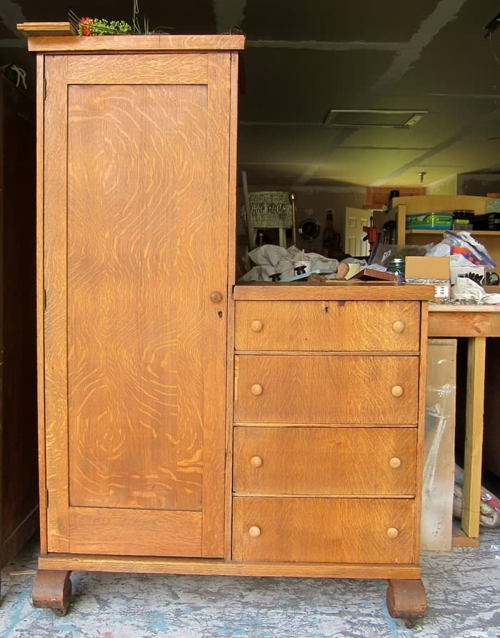 antique empire style wardrobe