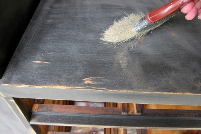 brush dust from sanding paint