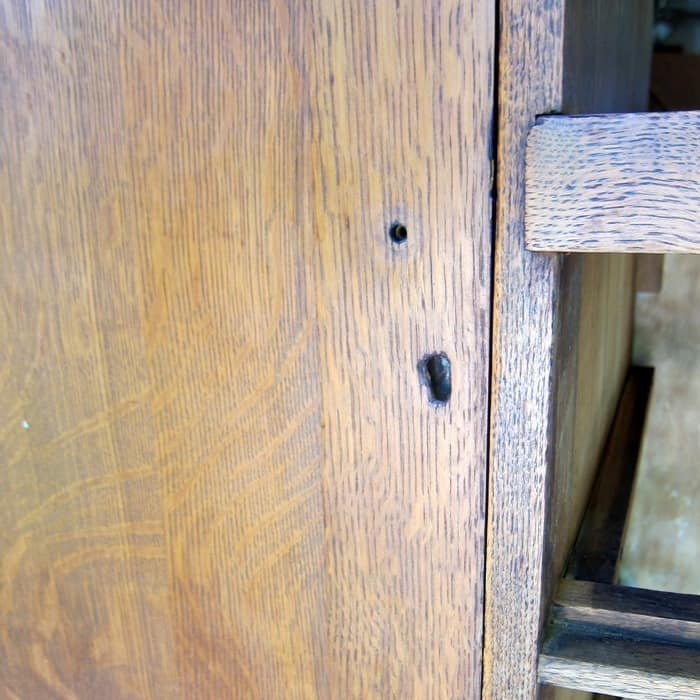 holes in furniture for repair