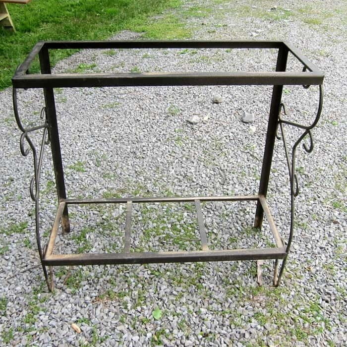 large reclaimed metal fish tank stand or aquarium stand
