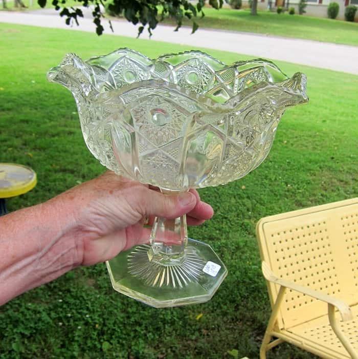 vintage lead crystal bowl