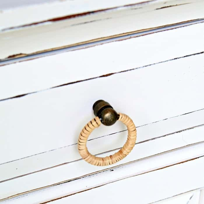Dress up painted furniture with new knobs for a modern look