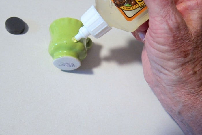 Gorilla Glue for gluing magnets to miniature tea cups