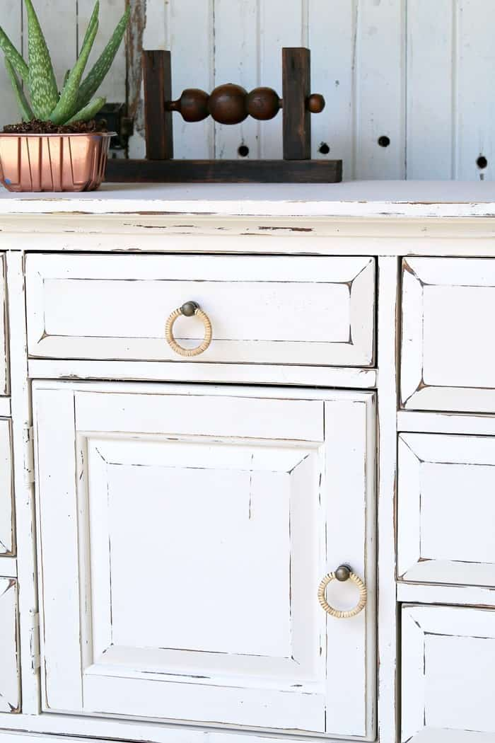 Custom Color Latex Painted Furniture Makeover
