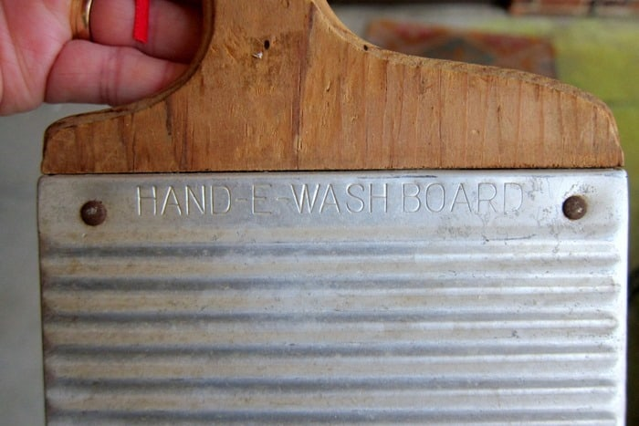 antique Hand E Washboard