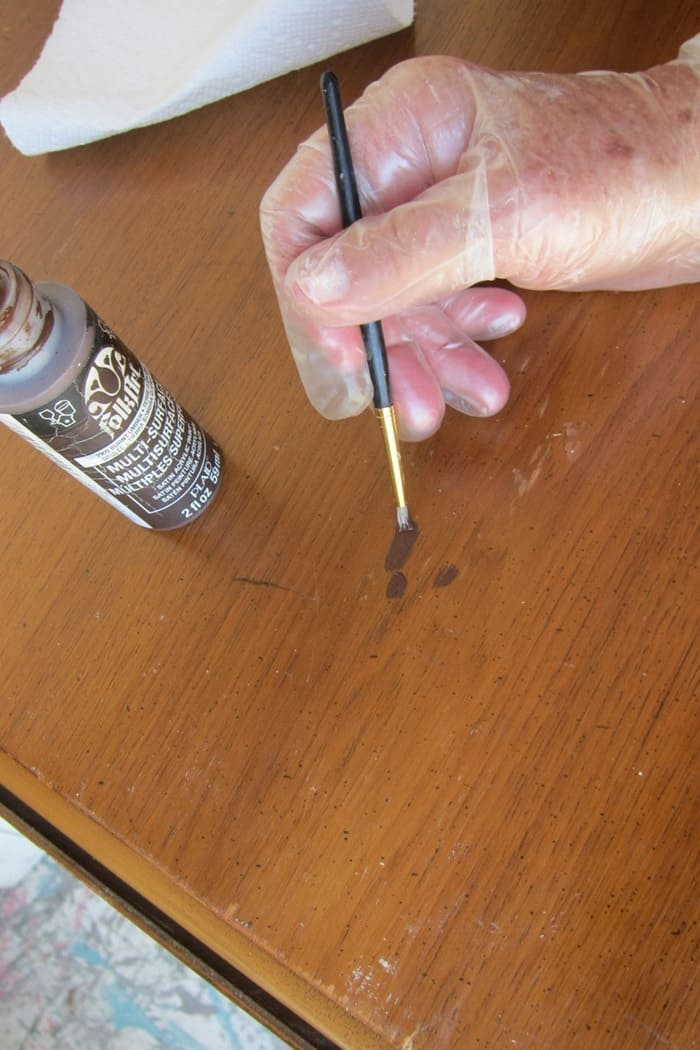 covering furniture scratches with paint