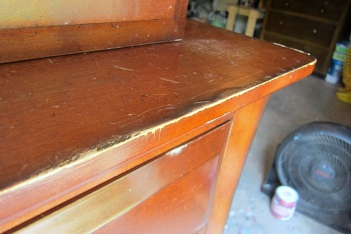 furniture made from MDF or not real wood bubbles up when wet
