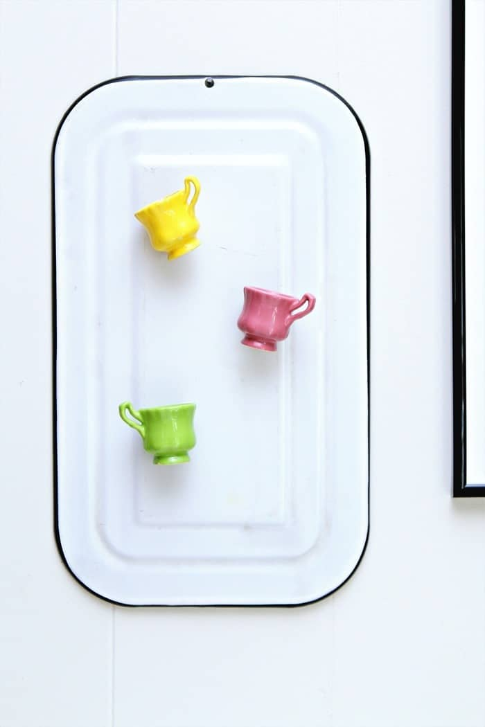 mini tea cup magnets and enamelware magnet board (3)