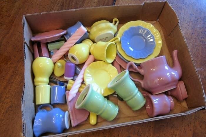 miniature tea set for magnet project