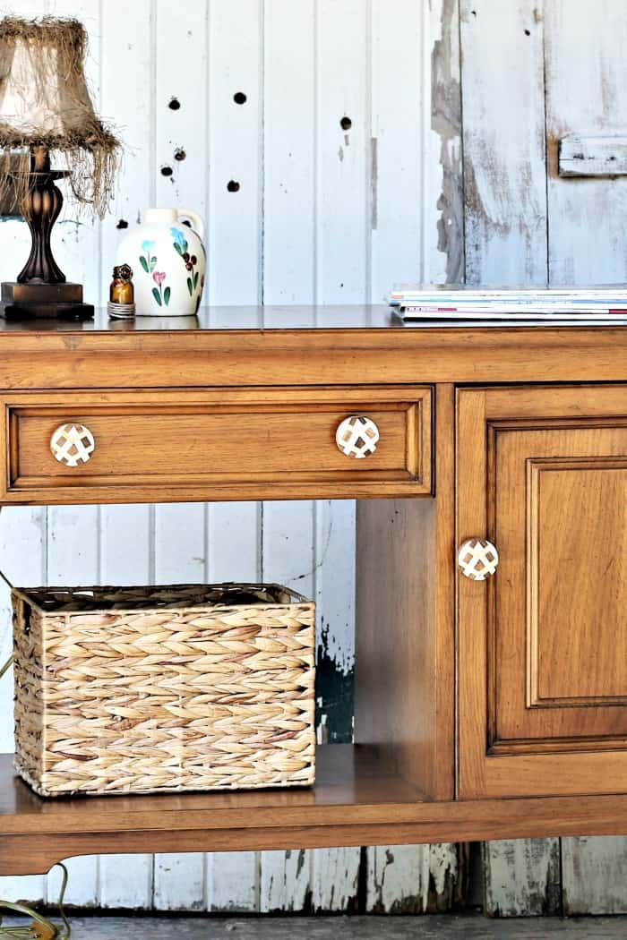 old furniture needs to be updated with new knobs and a good cleaning