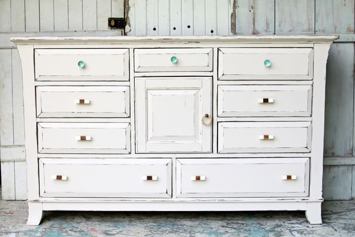 painting furniture and selecting new drawer pulls