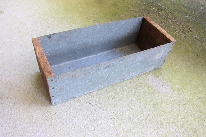 small wood and metal box from the auction
