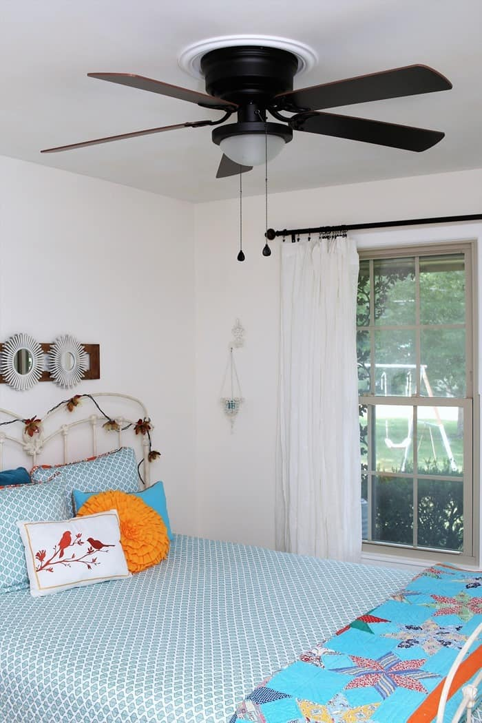 Install a ceiling fan in the bedroom for added cooling (2)