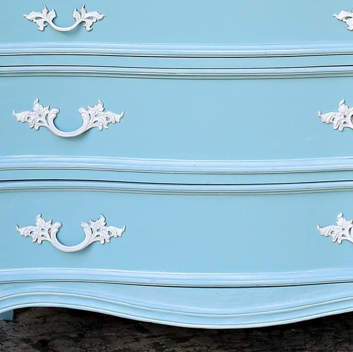 Whitewashed Blue French Provincial Bedroom Furniture