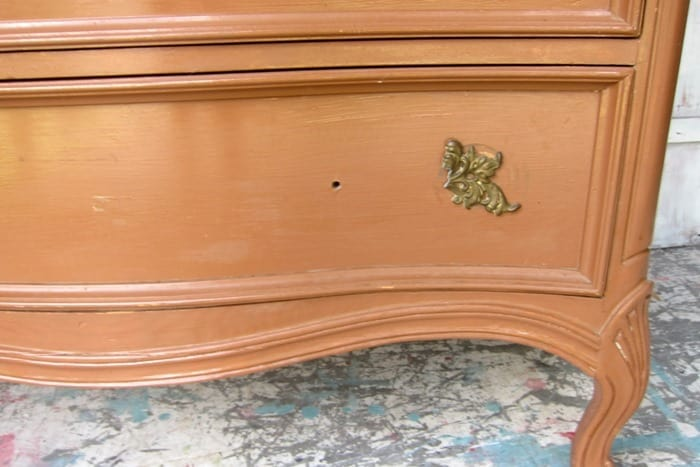 broken French Provincial Furniture knob