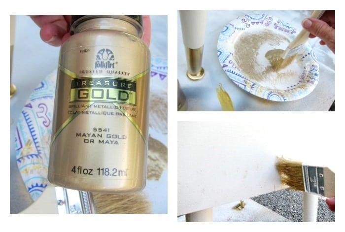 gold paint for furniture accents
