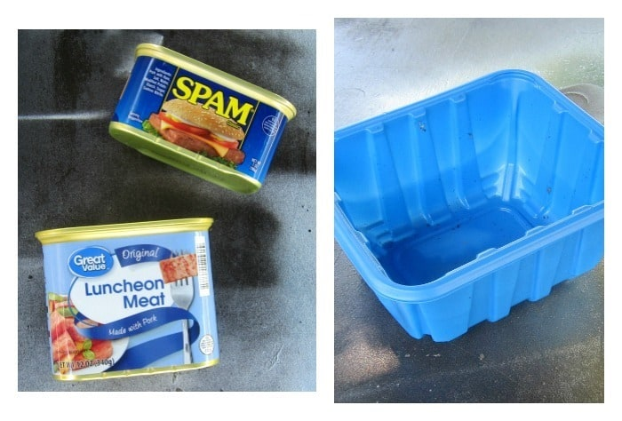 how to recycle luncheon meat cans and Spam cans