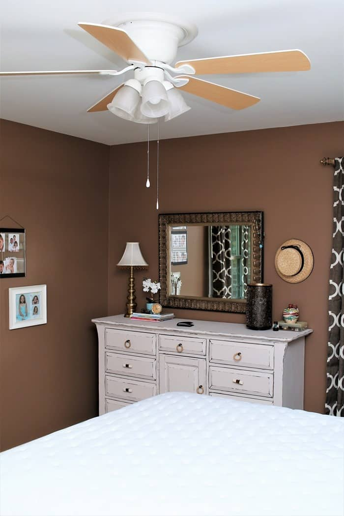 install a ceiling fan in bedrooms for help with cooling
