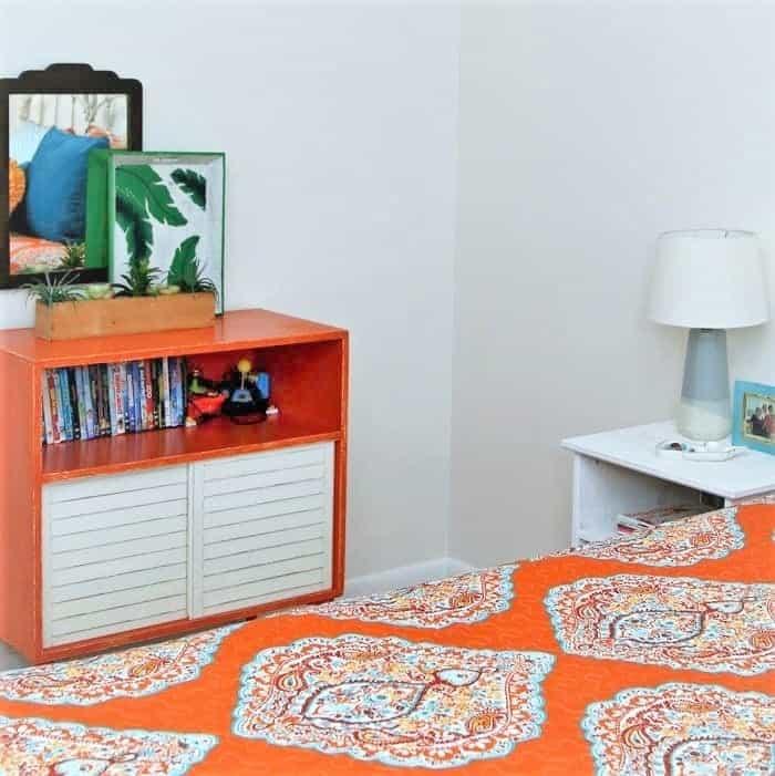 orange bedroom furniture