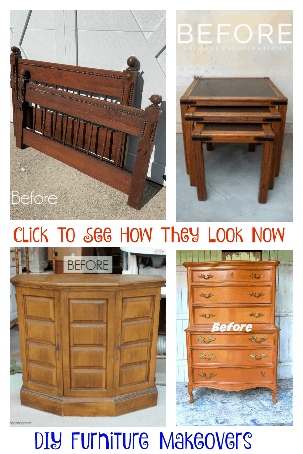 painted furniture makeovers before and after