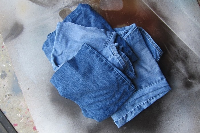recycle denim jeans and use strips of denim to decorate succulent pots or flower containers