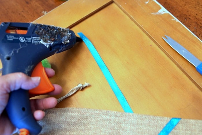 use hot glue to make craft projects with ribbon