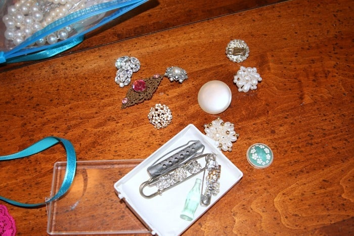 vintage and costume jewelry for craft project