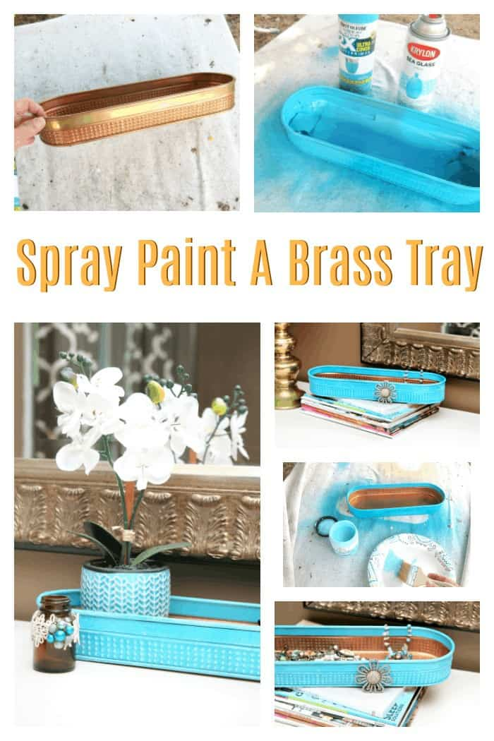 How to spray paint a brass tray