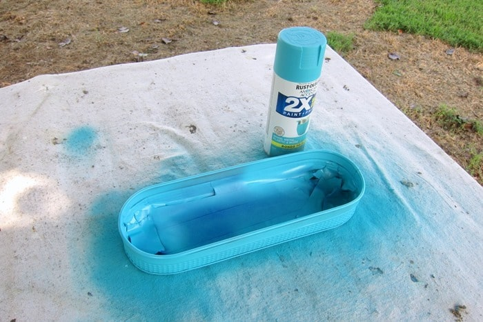 Rustoleum turquoise spray paint project