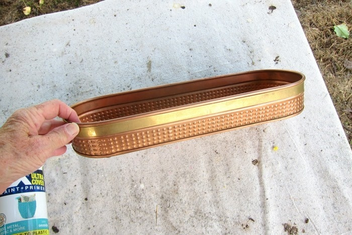 brass tray for painting