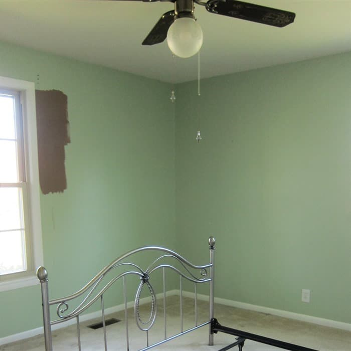 brush paint colors on the wall in small areas when selecting paint colors for your home