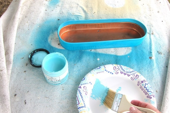 dry brush spray painted projects for depth using FolkArt paint